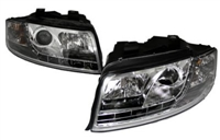 HAUA4B6HL-S5C S5 Style LED Ecode Chrome Projector Headlights |