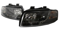HAUA4B6HL-S5B S5 Style LED Ecode Black Projector Headlights | B6