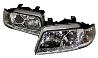 HAUA4B5HL-S5C S5 Style LED Ecode Chrome Projector Headlights |