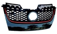 1K0853653BVW8 Mk5 GTi Grille - Black w/Red Trim OEM VW