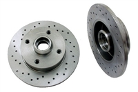 357615601_X_qty2 Rear Cross Drilled Rotors | Mk2 | Mk3 4-cyl