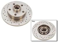 357615601B_X_qty2 Rear Cross Drilled Rotors | Mk3 Golf | Jetta VR6