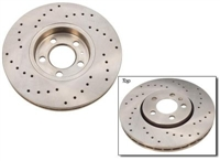 1J0615301S_X_qty2 Front Cross drilled brake rotor | Mk4 Golf | Jetta