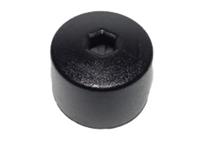 6X0601173B9B9 17mm Head (Black) Wheel Bolt Caps w/Hole - Priced