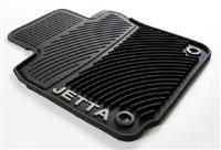 1KM061550HA041 Monster Mat™ Rubber Floor Mats | Jetta logo | Mk5 (round clip)