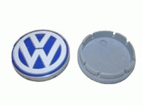 1C060117109Z VW Wheel Center Cap | Blue | White (55mm) - Priced