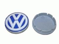 1C060117109Z VW Wheel Center Cap | Blue | White (55mm) - Priced