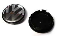3B7601171XRW VW Center Cap | Black|Silver (66mm) - Priced Each