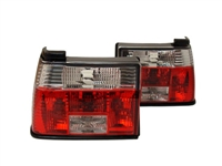 HVWJ2TL-CR MK2 Jetta Crystal Clear | Red Tail Lights