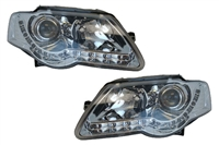 HVWP60HL-S5C Depo S5 Led Style Chrome Headlights | B6 Passat