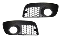 Mk5_GTi_open_grills Honeycomb Bumper Grill Set with Hole | Mk5 GTi | GLi
