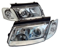 HVWP50HL-PC Helix Chrome E-Code Headlights | B5 Passat