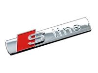 EMB-SLINE-BADGE-CHROME S-Line Audi Chrome Emblem Badge (Priced Each)